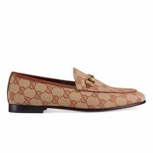 gucci women new jordaan logo loafers